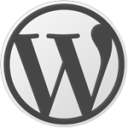 Black & White Wordpress Logo